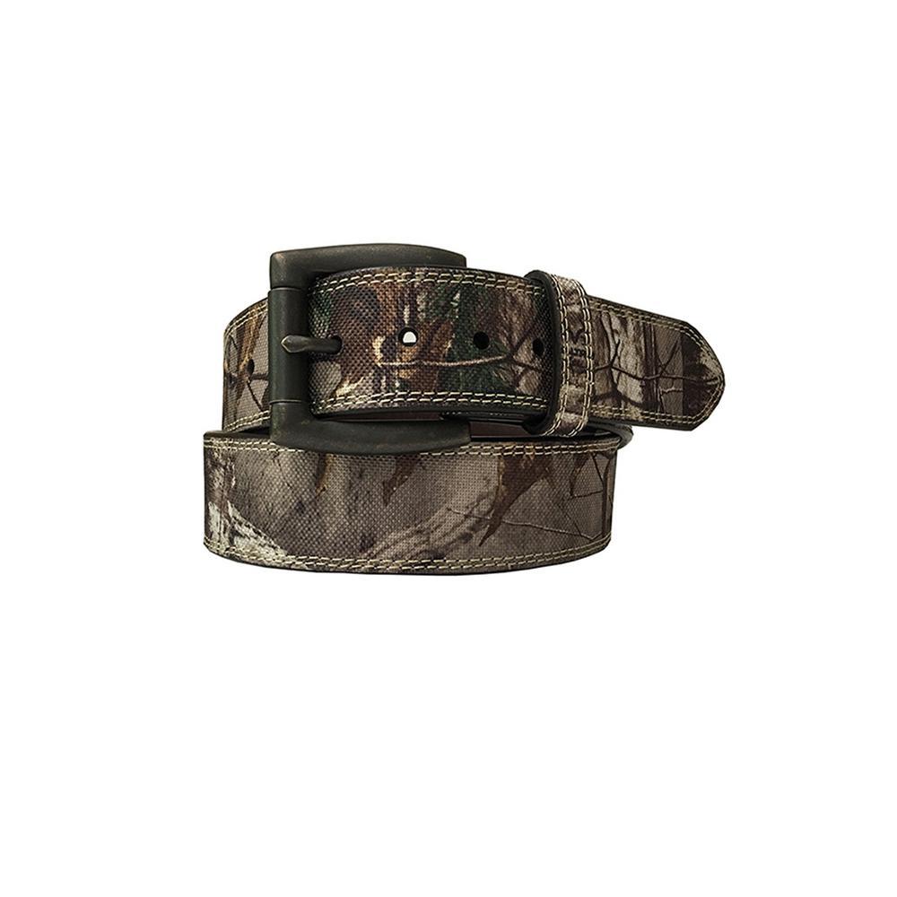 Men's Size 46 Leather Lined Camo Belt