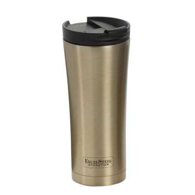 16 oz. Gold Double Walled Stainless Steel Coffee Tumbler