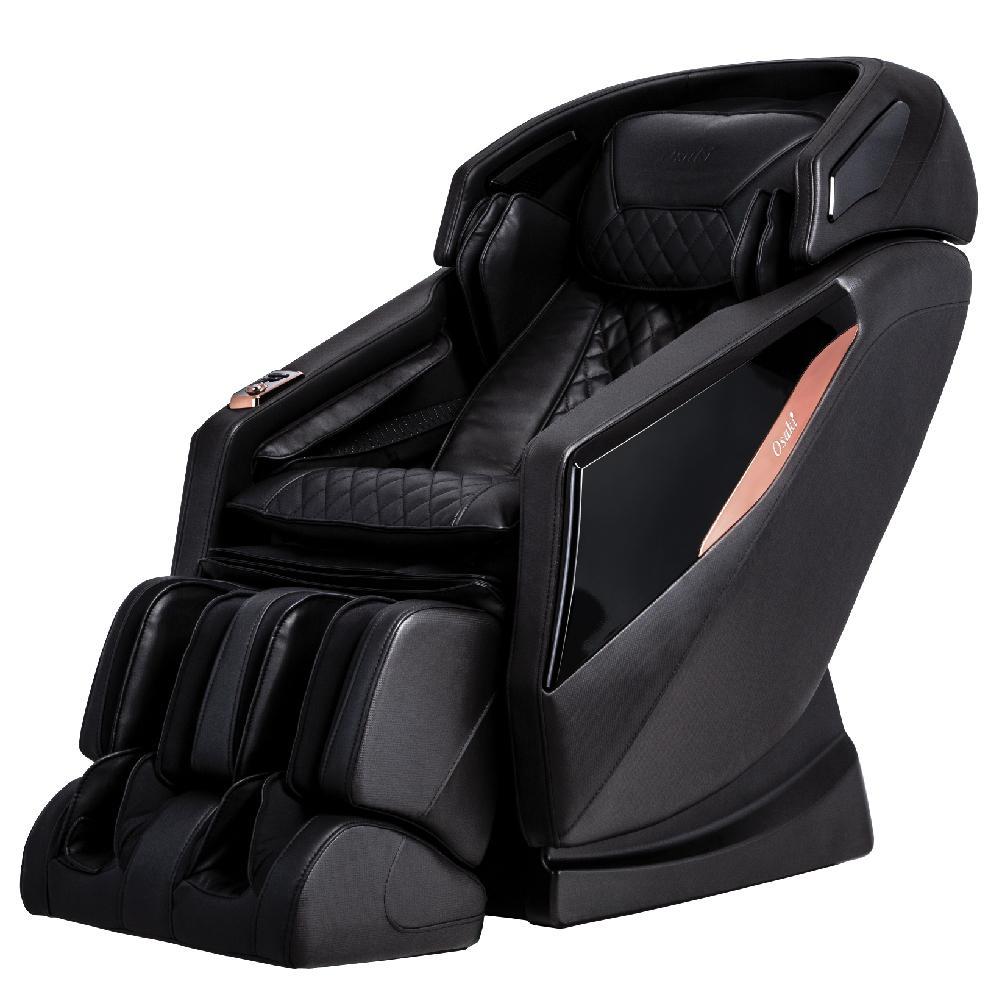 OSAKI OS-PRO Yamato Black Faux Leather Reclining Massage Chair