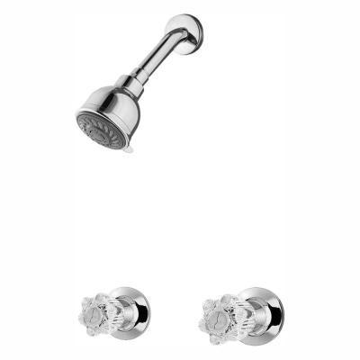 Bedford 2-Handle 3-Spray Round Shower Faucet in Polished Chrome (Valve Included)