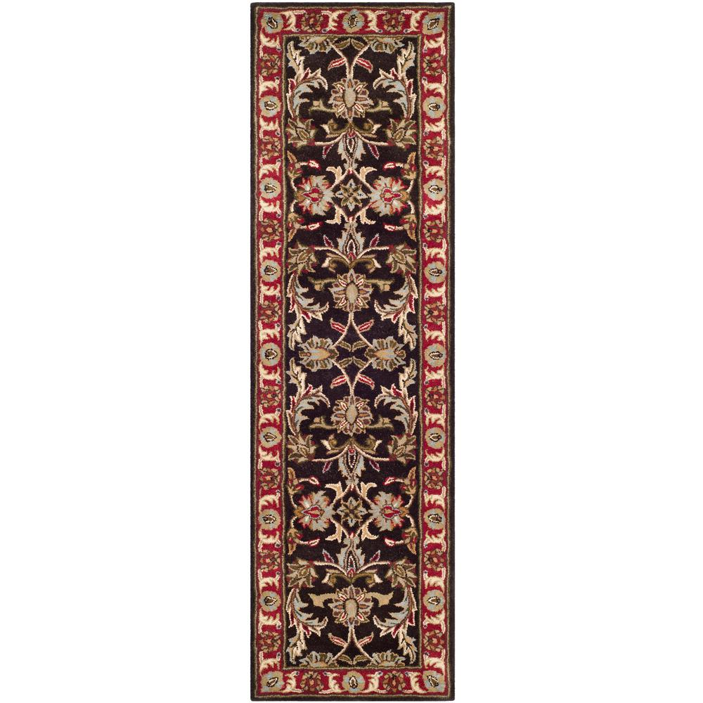 Heritage Chocolate/Red 2 ft. 3 in. x 12 ft. Runner