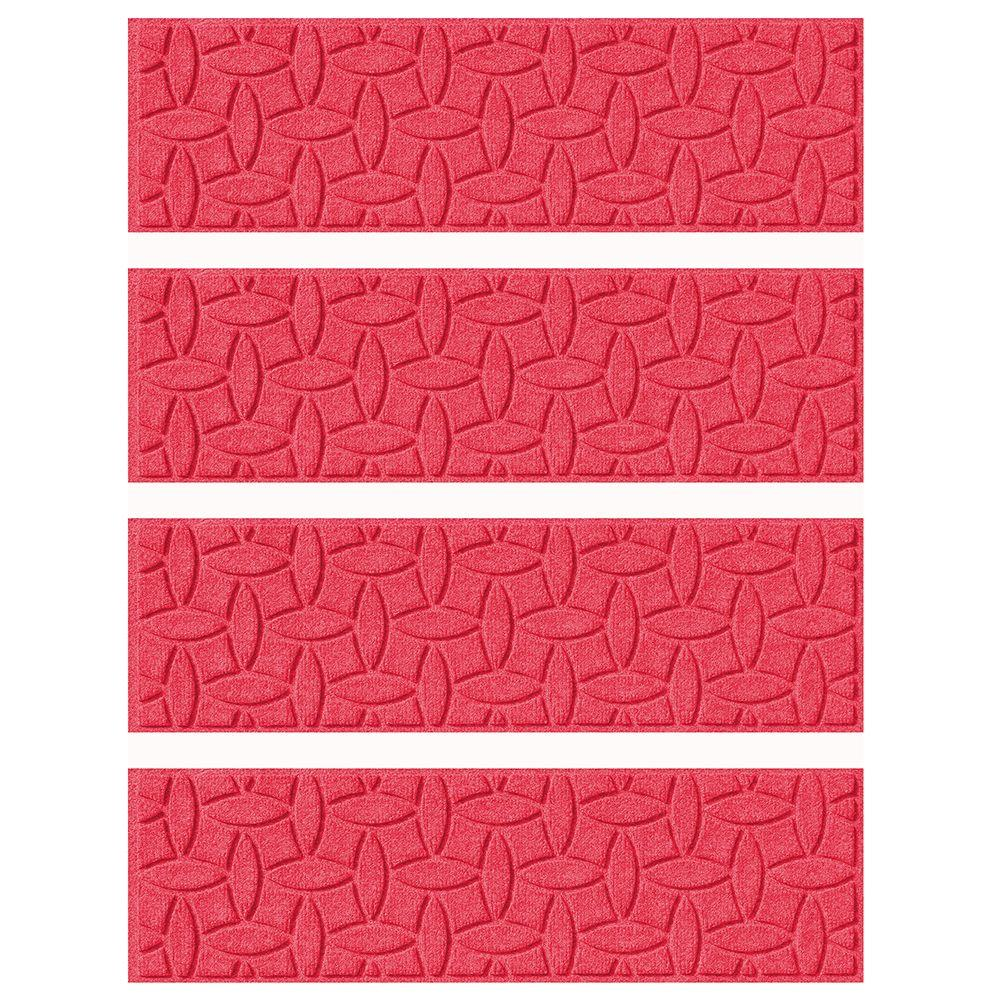 Red 8.5 in. x 30 in. Ellipse Stair Tread Cover (Set