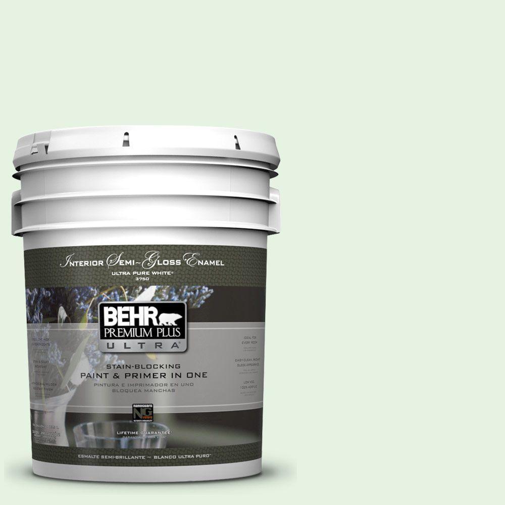 BEHR Premium Plus Ultra 5-gal. #440A-2 Sea Cap Semi-Gloss Enamel Interior Paint
