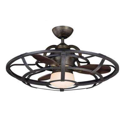 Aumbrie 26 in. Reclaimed Wood Indoor Ceiling Fan