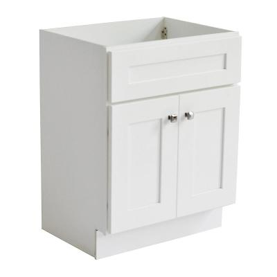 Brookings Plywood RTA 24 in. W x 18 in. D 2-Door Shaker Style Bath Vanity Cabinet Only in White