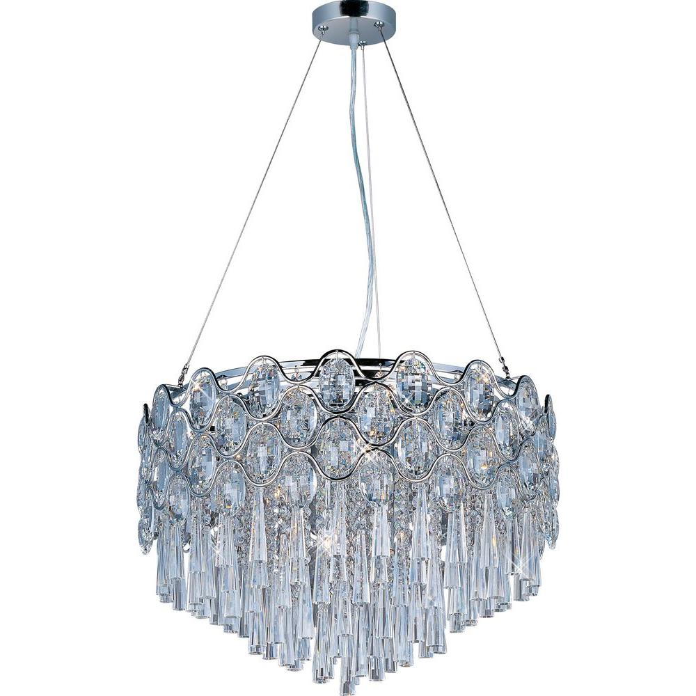 This Is Not Your Grandma S Chandelier: Maxim Lighting Jewel 20-Light Polished Chrome Single