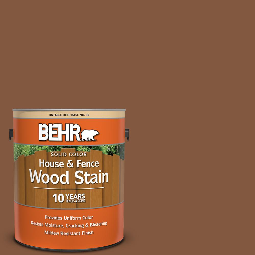 Woodbridge Home Exteriors: BEHR 1 Gal. #SC-116 Woodbridge Solid Color House And Fence
