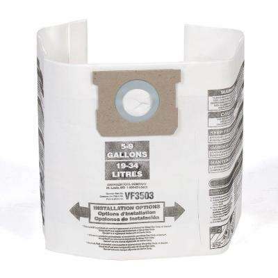 High-Efficiency Dust Bags for Most 6 Gal. to 9 Gal. RIDGID Wet Dry Vacs & 5 Gal. to 8 Gal. Shop-Vac Wet Dry Vacs(2-Pack)