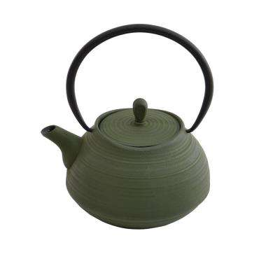 4.8-Cup Green Cast Iron Teapot