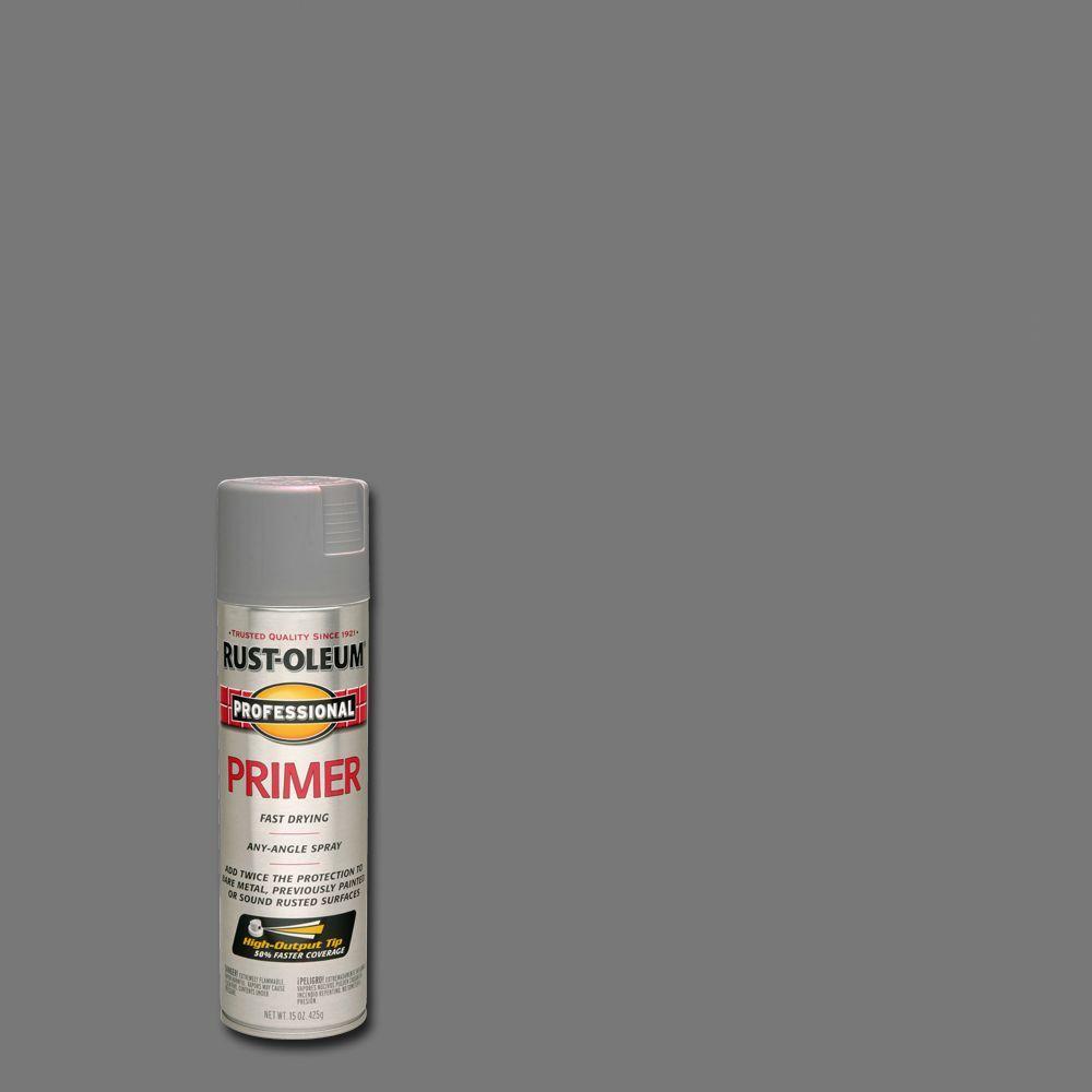 Rust-Oleum Professional 15 oz. Flat Gray Primer Spray