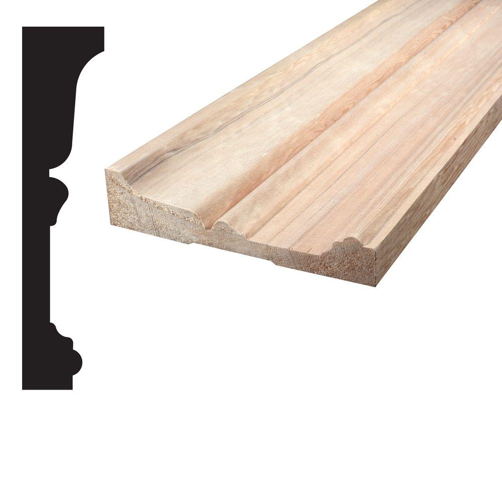 Alexandria Moulding 1-3/16 in. x 5-1/4 x 96 in. Mixed Grain Hemlock Architrave Moulding-05020-80096C - The Home Depot  sc 1 st  Home Depot & Alexandria Moulding 1-3/16 in. x 5-1/4 x 96 in. Mixed Grain Hemlock ...