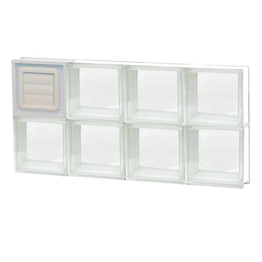 31 in. x 15.5 in. x 3.125 in. Dryer Vent Clear