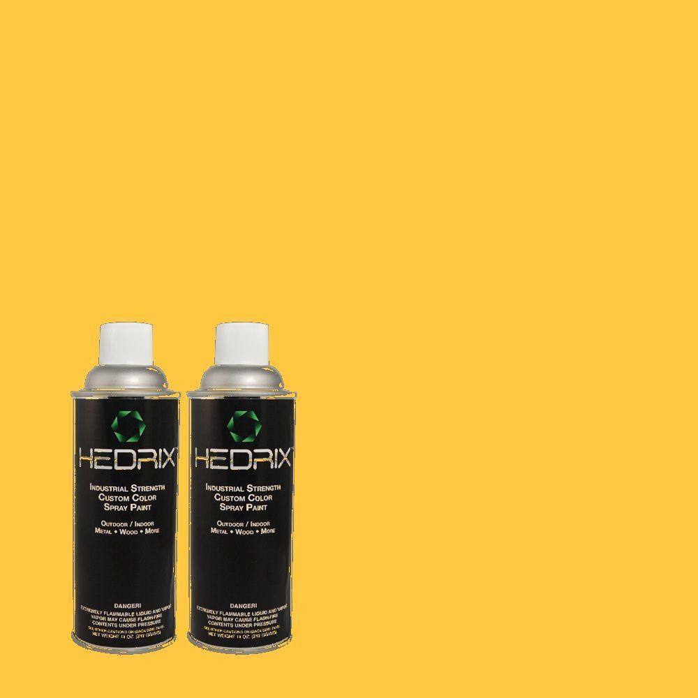 Hedrix 11 oz. Match of 1B7-6 Suncatcher Flat Custom Spray Paint (2-Pack)