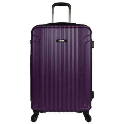 Akron 25 in. Hardside Spinner Luggage Suitcase, Purple