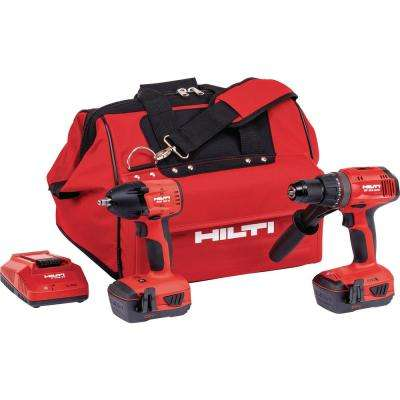 22-Volt Cordless Advanced Compact Hammer Drill Driver and Impact Wrench Includes 6 Impact Sockets and Bag