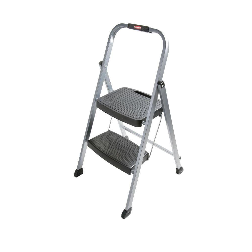 Rubbermaid 2-Step Steel Step Stool Ladder