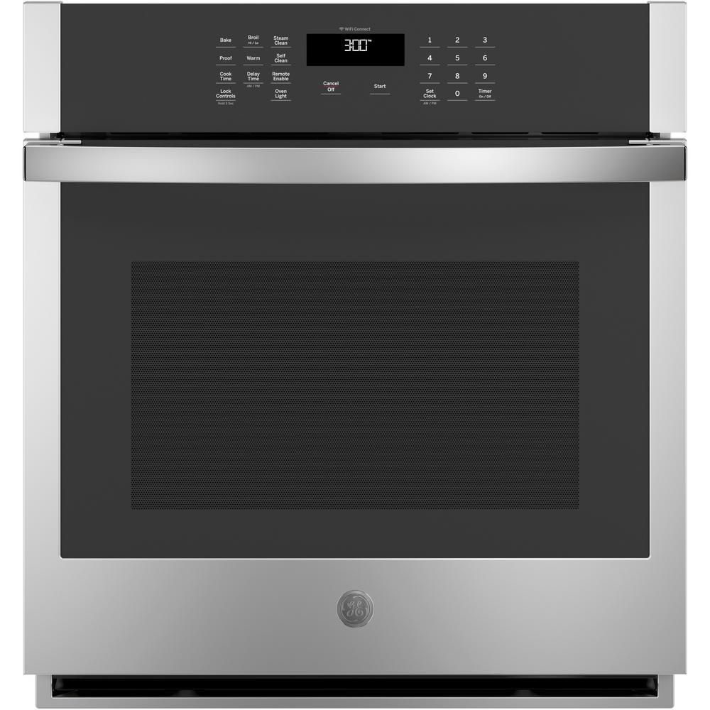 GE 27 in. Smart Single Electric Wall Oven Self-Cleaning in Stainless Steel