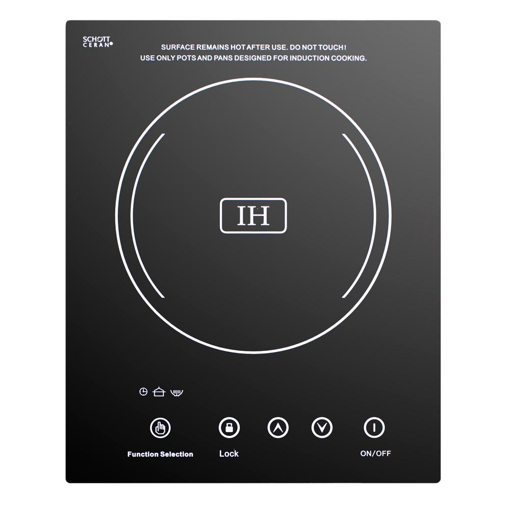 12 in. Electric Induction Cooktop in Black with 1 Element