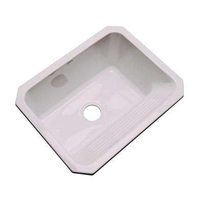 Kensington Undermount Acrylic 25 in. Single Bowl Utility Sink in Innocent Blush