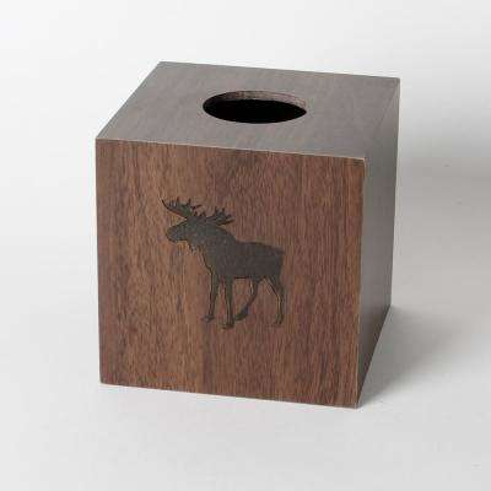 Silhouette Wildlife Free Standing Tissue Holder in Brown