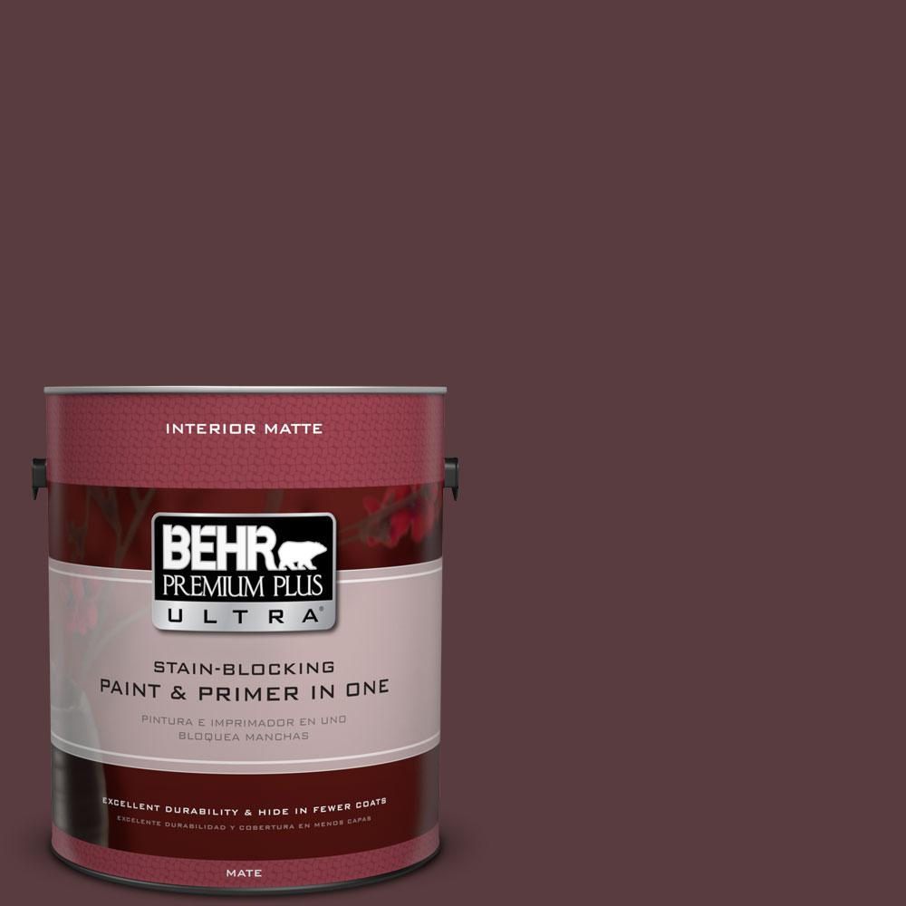 BEHR Premium Plus Ultra 1 gal. #PPU1-2 Divine Wine Flat/Matte Interior Paint