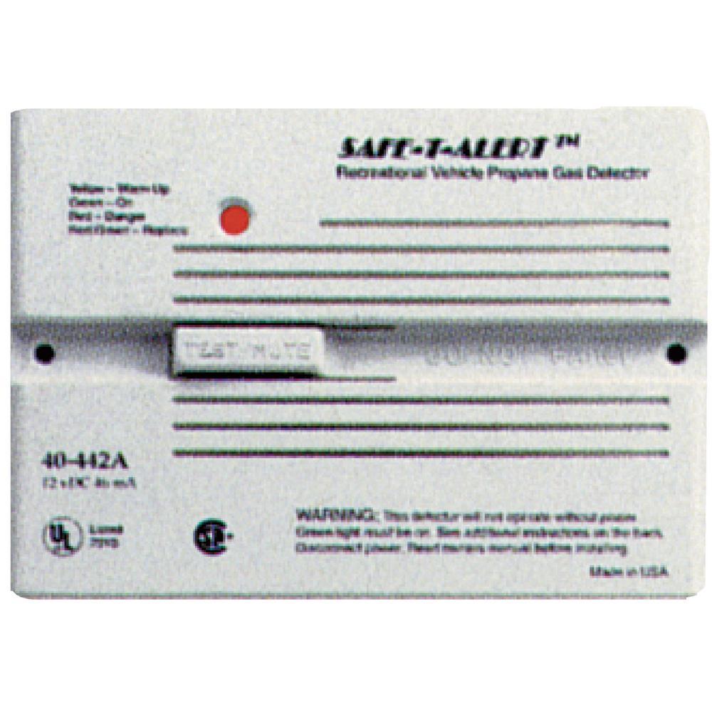 40 Series 12-Volt Safe-T-Alert Flush Mount RV Propane/LP Gas Alarm