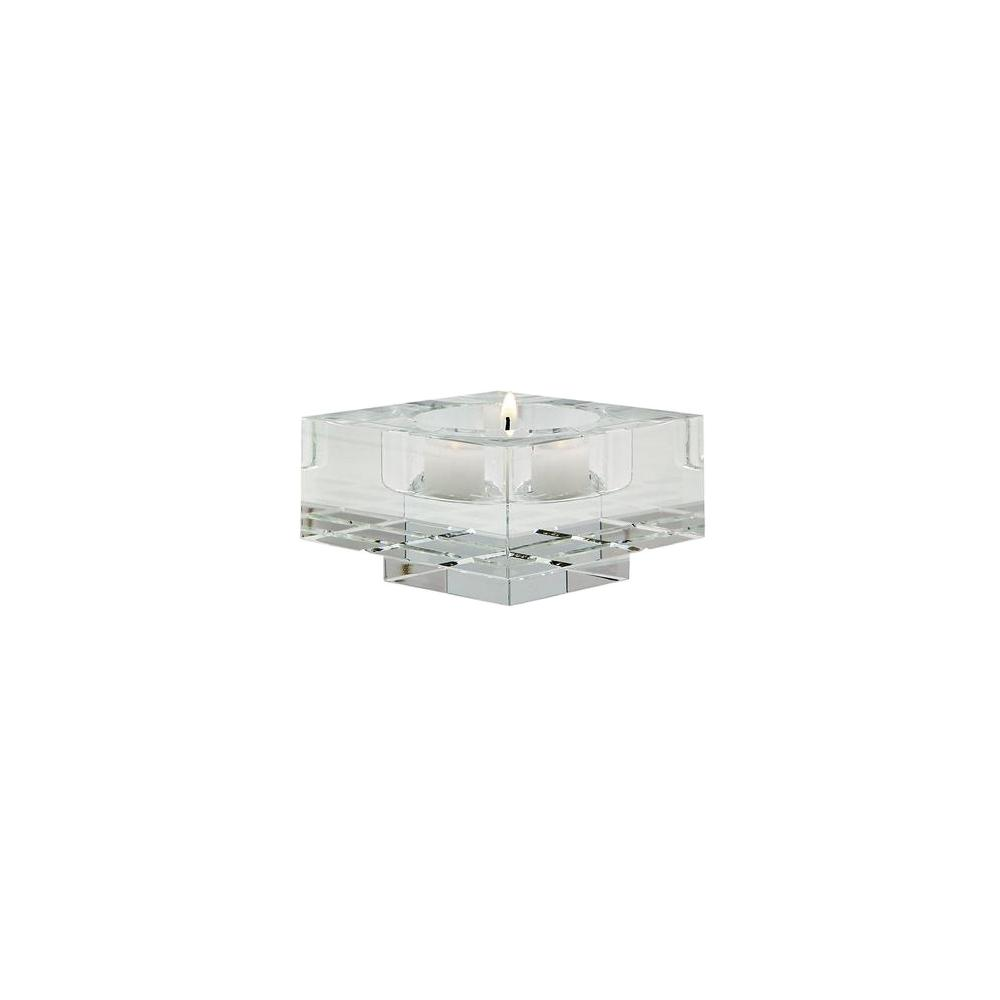 small candle holders votive holders titan lighting square windowpane crystal small candle holder set of 2