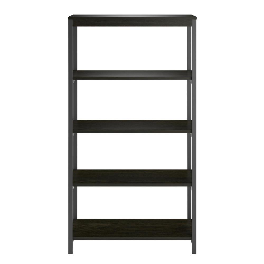 Ameriwood Cumbria Rustic Medium Oak 5-Shelf Bookcase HD29544