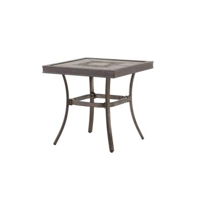 Wilshire Estates 1-Piece Aluminum Grouted Tile Top 22 in. Square Outdoor Accent Table