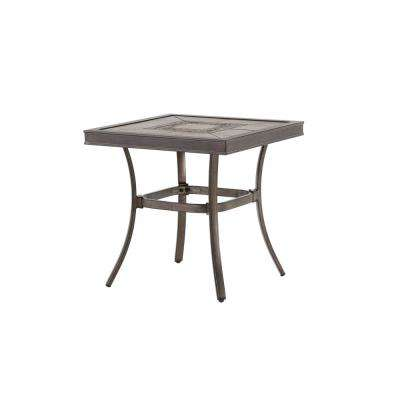 Wilshire Estates 1 Piece Aluminum Grouted Tile Top 22 In Square Outdoor Accent Table