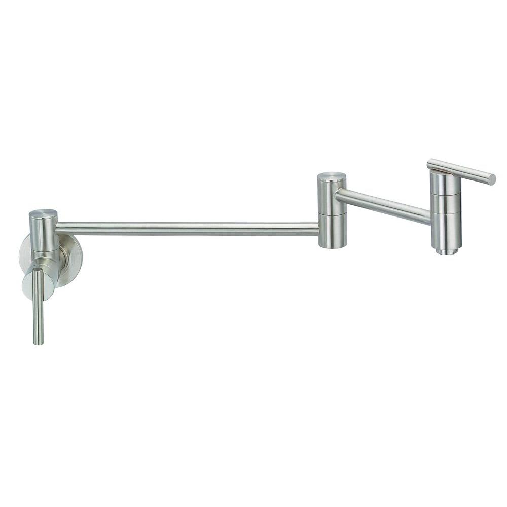 danze parma wall mounted potfiller in stainless steel - Danze Kitchen Faucets