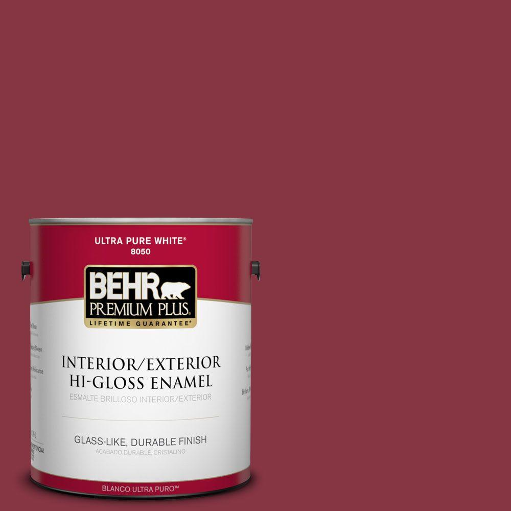 BEHR Premium Plus 1-gal. #S-H-120 Antique Ruby Hi-Gloss Enamel Interior/Exterior Paint