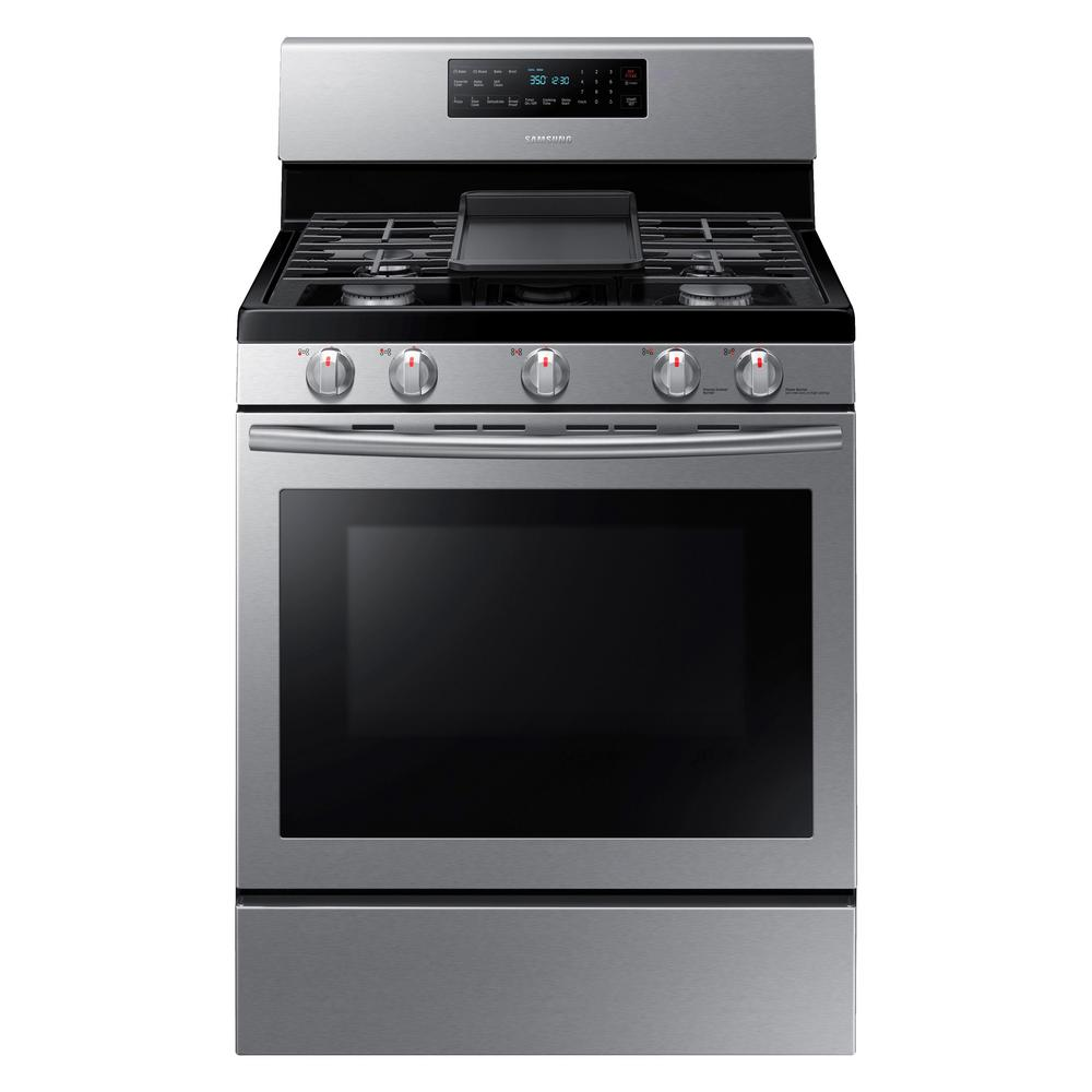 Samsung 30 In 5 8 Cu Ft Gas Range