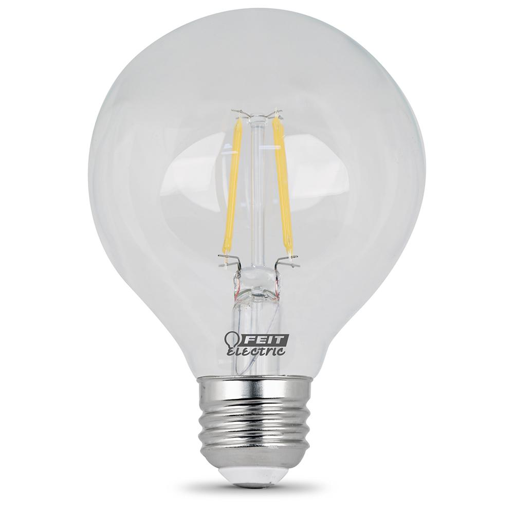 Ecosmart 40w Equivalent Soft White G25 Dimmable Filament: Feit Electric 25W Equivalent Soft White G25 Dimmable Clear