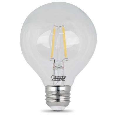 25W Equivalent Soft White G25 Dimmable Clear Filament LED Medium Base Light Bulb (Case of 12)