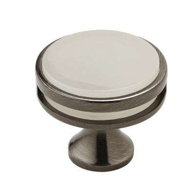 Oberon 1-3/8 in (35 mm) Diameter Gunmetal/Frosted Cabinet Knob