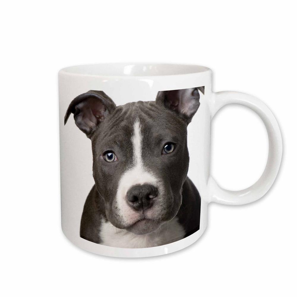 Dogs 11 oz. White Ceramic American Pit Bull Terrier Puppy Mug