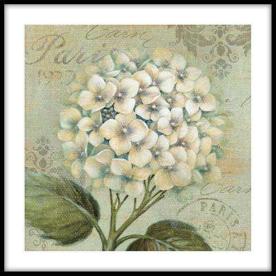 """13.75 in. x 13.75 in. """"Cheers! Blanc"""" Framed Wall Art"""
