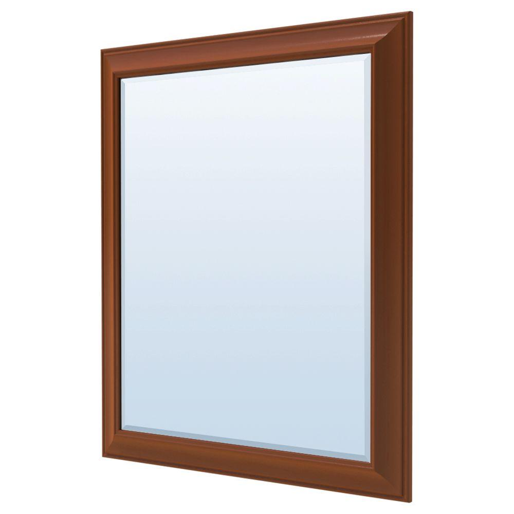 MasterBath 36 in. L x 30 in. W Wall Mirror in Cognac
