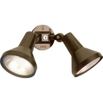 Tony 2-Light Dark Bronze Flood Light