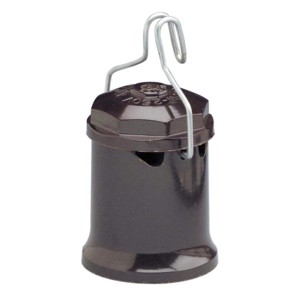 660-Watt Brown Weatherproof Pin-Type Lampholder