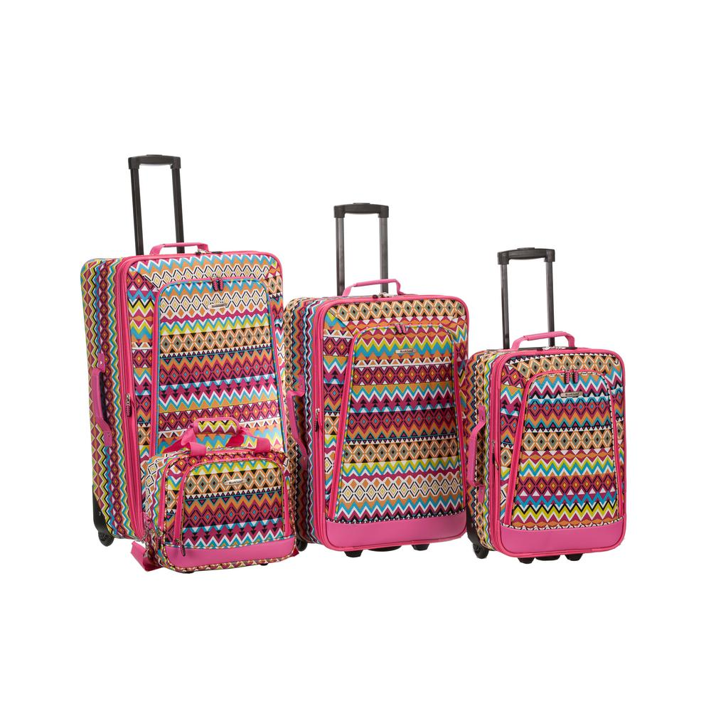 Rockland Beautiful Deluxe Expandable Luggage 4-Piece Softside Luggage Set, Tribal was $239.0 now $143.4 (40.0% off)