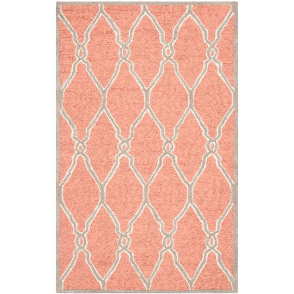 Cambridge Coral/Ivory 3 ft. x 5 ft. Area Rug