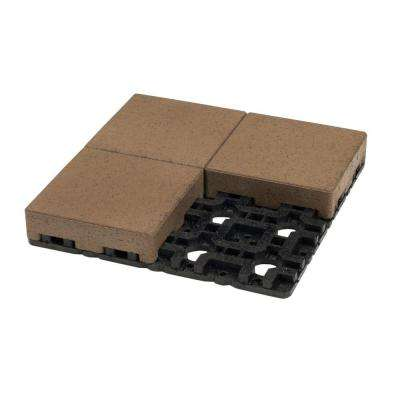8 in. x 8 in. Olive Composite Standard Paver Grid System (4 Pavers and 1 Grid)