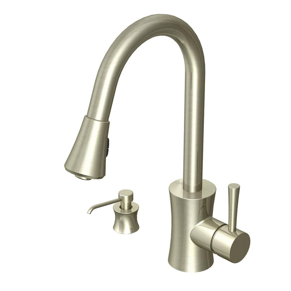 Glacier Bay Luca Single-Handle Pull-Down Sprayer Kitchen Faucet in ...