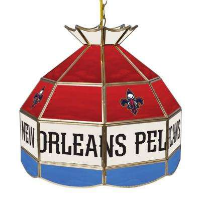 New Orleans Pelicans NBA 16 in. Tiffany Style Lamp