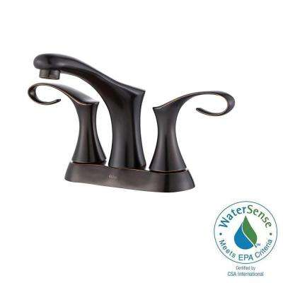 Cirrus 4 in. Centerset 2-Handle Bathroom Faucet in Oil Rubbed Bronze