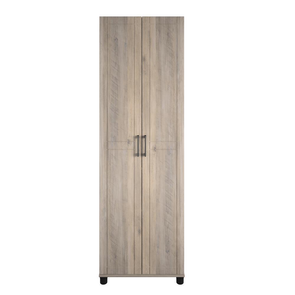 System Build Kai 24 in. Gray Oak Utility Storage Cabinet