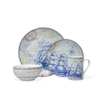 Clipper Blue 16-Piece Dinnerware Set