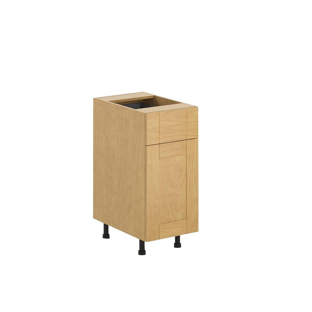 Ready to Assemble 15x34.5x24.5 in. Milano Base Cabinet in Maple Melamine